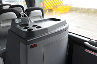 Cheney Coaches Fleet - On board toilet